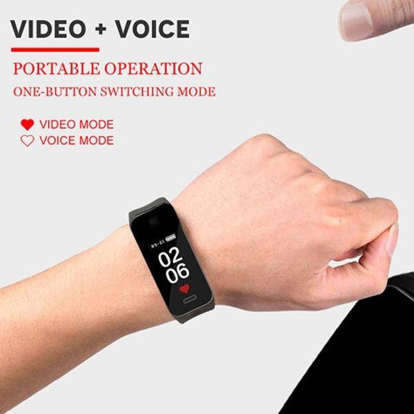 K10 1080P OLED screen Smart Wirstband Mini video recorder Wristband camera voice recorder