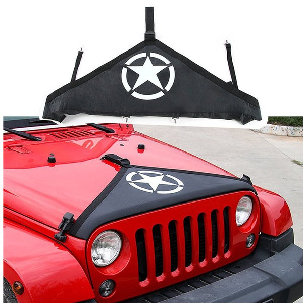 Jeep Wrangler Accessories 2017 >> For Jeep Wrangler Jk 2007 2017 Black Face Style Front Hood Protective Bra Cover Front End Bra Protector Kit Cool Automotive Accessories Cool Car
