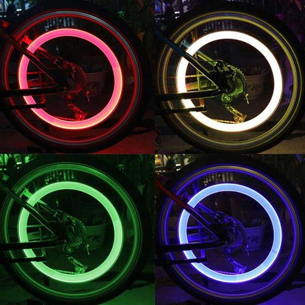 LED Flash Bike Lights Car Flashing Fire Flys Luce della ruota del pneumatico LED Valvola di tenuta Stem Stem Car Bike Luce della bicicletta Ruota accessorio della bicicletta