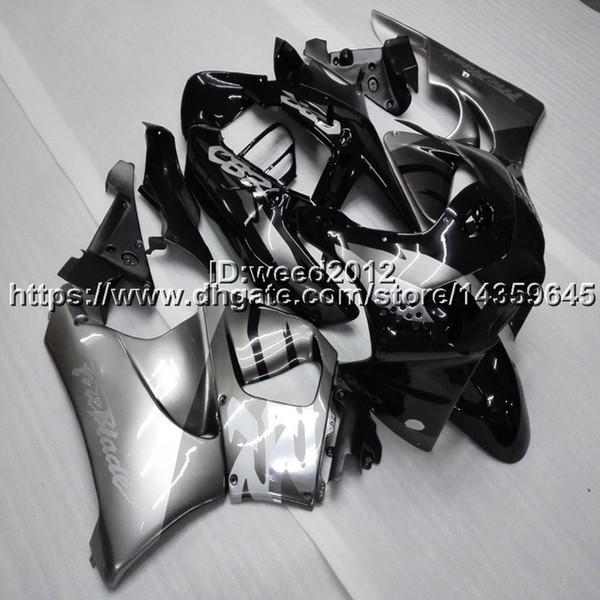 Custom-color + Screws capucha de motocicleta negro plata para HONDA CBR919RR 1998-1999 CBR 900 RR 98 99 ABS cascos de la motocicleta Carenados