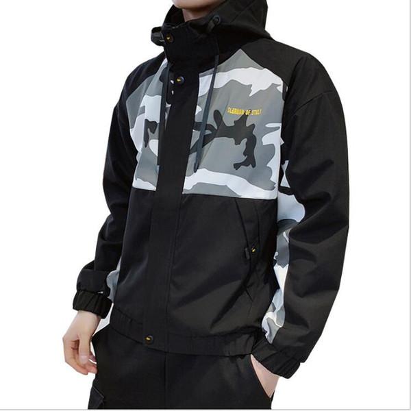 Spring Mens Jackets Coat Fashion Designer Hooded Jacket With Letters Windbreaker Zipper Hoodies For Men Sportwear Clothing 3 Colors M-4XL