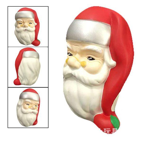 Melhor presente Squishy Papai Noel cabeça brinquedo 11 cm Kawaii Squeeze Animal Bonito Macio Lento Rising Squeeze Break Crianças Brinquedos Aliviar A Ansiedade Divertido presente