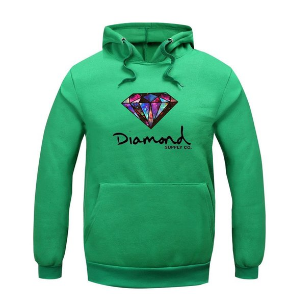 Best Sellers 2016 New Pattern Thickening Diamond Supply Increase Down Even Midnight Hoodie Hoodies Sweatshirts Mens Clothing