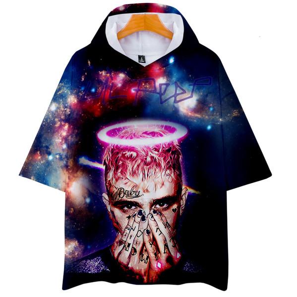 Dijital Trend Lilpeep Baskı 3d Kemer Cap Kısa Gömlek Erkekler Ve Kadınlar T Gömlek