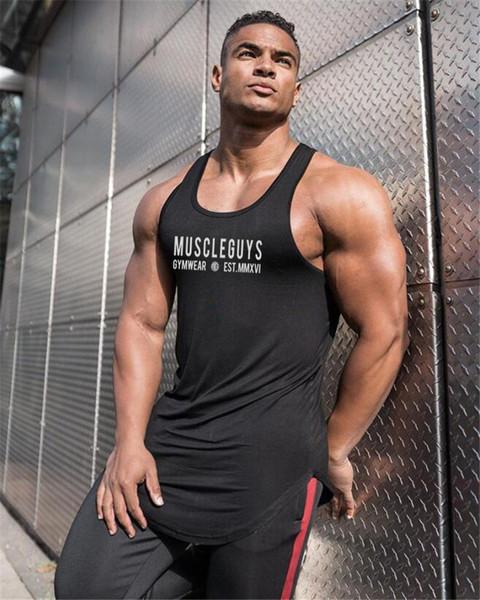 2019 été course gilet hommes coton bodybuilding sous-chemise sans manches t shirt hommes gym fitness débardeur sport gilet vêtements