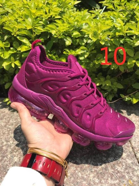 top popular Hot Air Mens Running Shoes TN Plus Rainbow Blue Violet Grape Mens Trainers All Blacks Gym Red Womens Cushions Sports Sneakers 36-45 2020