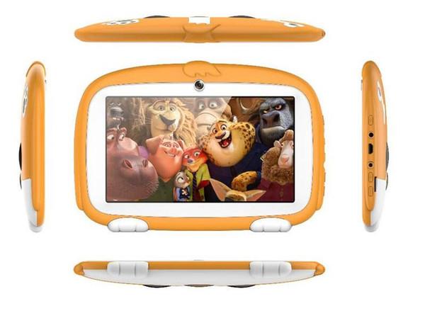 "top popular Kids Brand Tablet PC 7"" 7 inch Quad Core children Cute cartoon dog tablet Android 4.4 Allwinner A33 google player 512MB 1MB RAM 8GB ROM MQ10 2019"