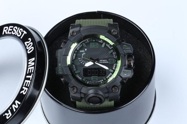 New wish shock relogio GWG men's sports watches with box, LED wristwatch, military watch, good gift for men & boy, dropship lazada
