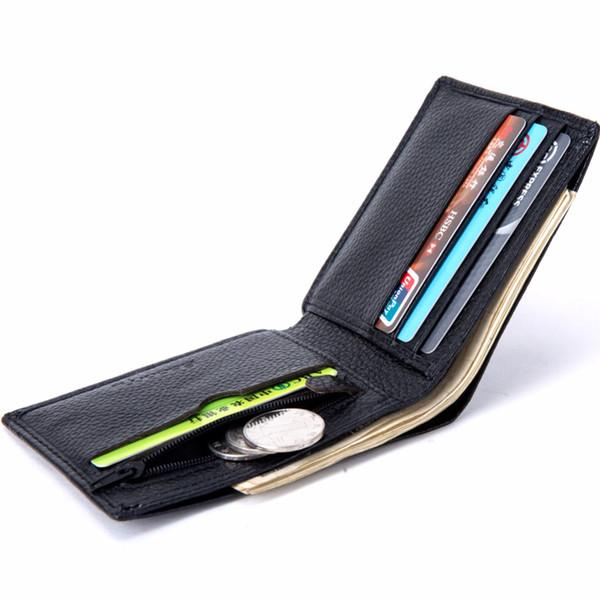 PriceMen Portefeuilles Beroemde Merk Lederen Portemonnee Met Coin Pocket Dunne Kaarthouder Voor Mannen Mode Slanke