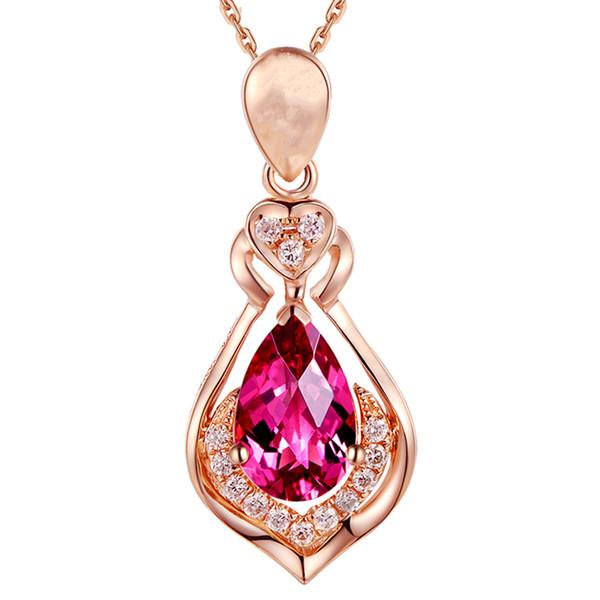 Wholesale Ruby Pendants Necklaces Vintage Fine Jewelry Bridal