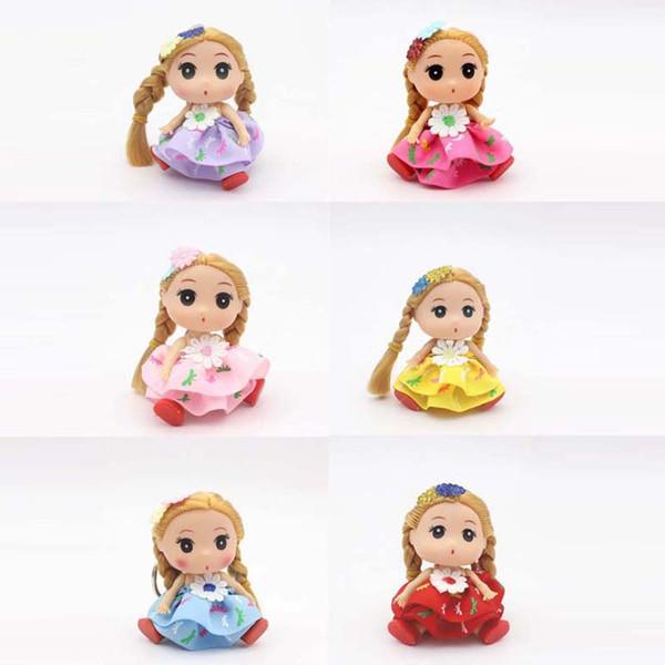 "3.5"" Confused Doll Toys Super Cute Girl Dolls Keychain Keyring Pendant Toy Doll Wedding Decoration High Quality"