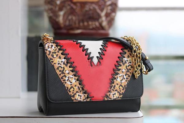 Роскошная дизайнерская сумочка с цепочкой и ремешком через плечо через плечо Женщины дизайнерские сумки Модные сумки L Цветочные кошельки