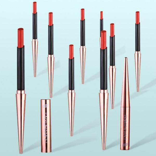 Waterproof Lipstick Matte Pumpkin Color Matte Lipstick Cosmetics Red Lip Tint Make Up