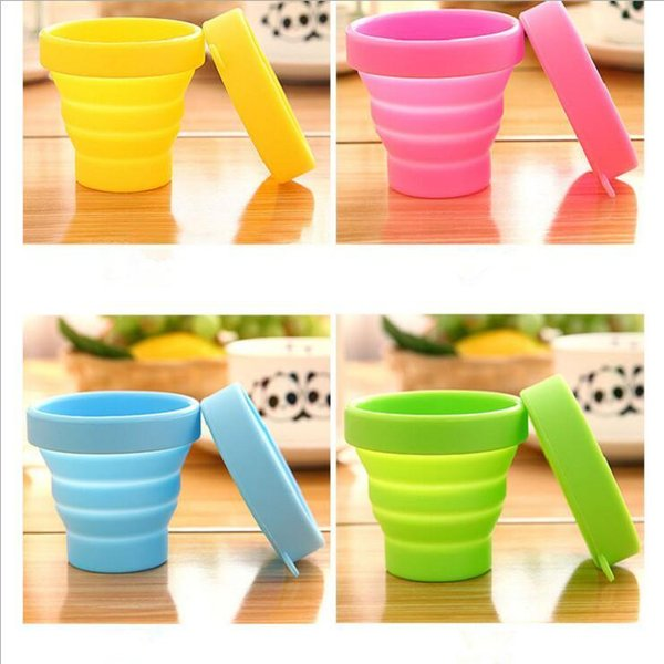 best selling Foldable Silicone Cups Portable Telescopic Collapsible Retractable Cup Candy Outdoor Camping Travel Tableware folding cup Wine glass C576