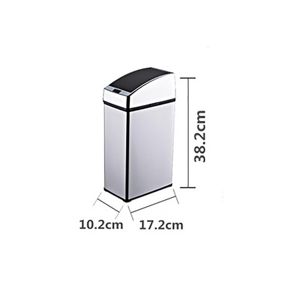 3L Car Garbage Can Automatic Trash Can Touchless Intelligent Induction Garbage Bin With Inner Bucket Contactless Quiet Lid Close Can