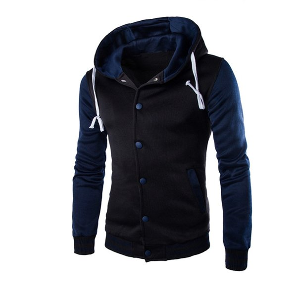 WOMAIL 2019 Fashion Zipper Long Sleeve Mens Casual Jackets Patchwork Pure Color High Quality Cotton Outwear Sweater Winter