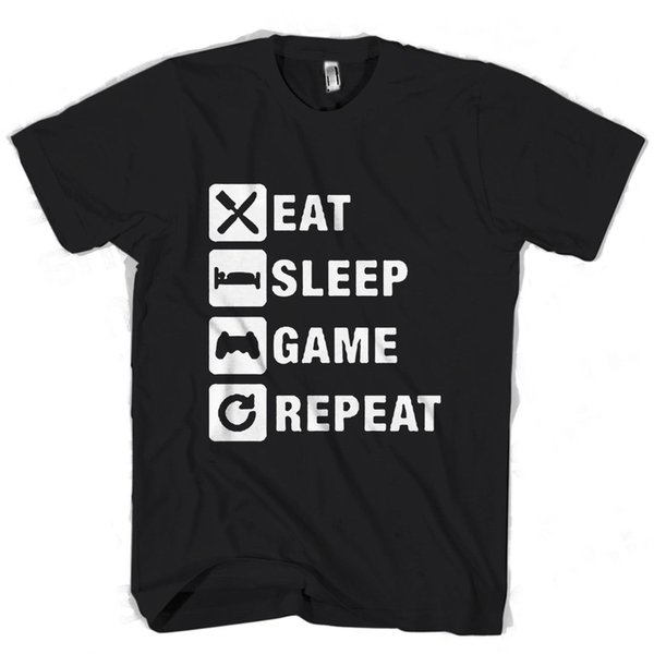Eat Sleep Game Repeat Gaming Gamer Men's / Women's T Shirt metallica fan pants t shirt