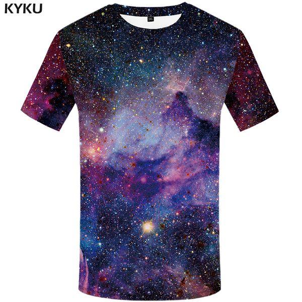 KYKU Бренд galaxy футболка Space T-shirts смешная 3d футболка 2017 хип-хоп мужская одежда китай рубашки галактики китайская футболка