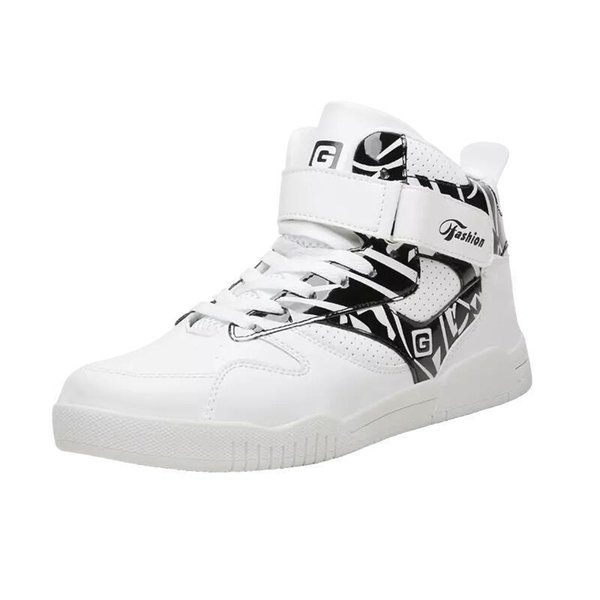 Big Size 39-46 Sneakers Justin Bieber Boots Super Star Hip Hop High Top Hombres Zapatos Casual Dropship Y190702