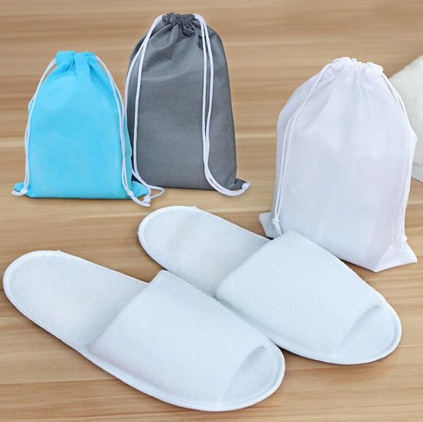 best selling Disposable Slippers Hotel SPA Home Guest Shoes Pink Grey Comfortable Breathable Soft Anti-slip Disposable Slippers With bags Free Shipping