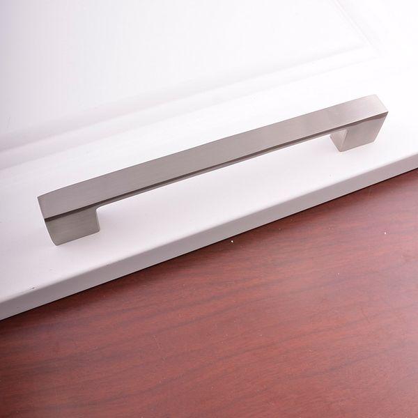 Door Hardware aluminum Alloy Home Furniture Hardware Kitchen Drawer Pull Knob Silver Cabinet Wardrobe closet T bar Handle Pulls DHl Free