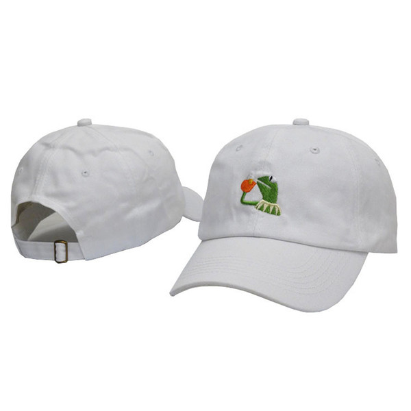 Kermit the Frog Gorras bordadas de moda sombreros de béisbol 5 Color Ajustable Cap Street Style Snapback Casual Ball Cap Envío gratis