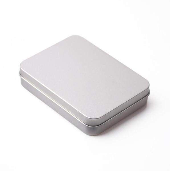 Rechteckige aufklappbare Behälter mit Deckel Metall Mini leere Blechdose verschleißfeste Speicherorganisator Haushalte MMA2089