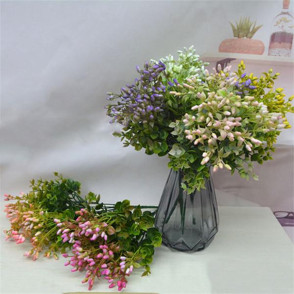 1 قطع الاصطناعي زهرة باقة نبات النبات البلاستيك وهمية الزهور لحزب ديكور المنزل الزهور الديكور الزفاف التموين 52834
