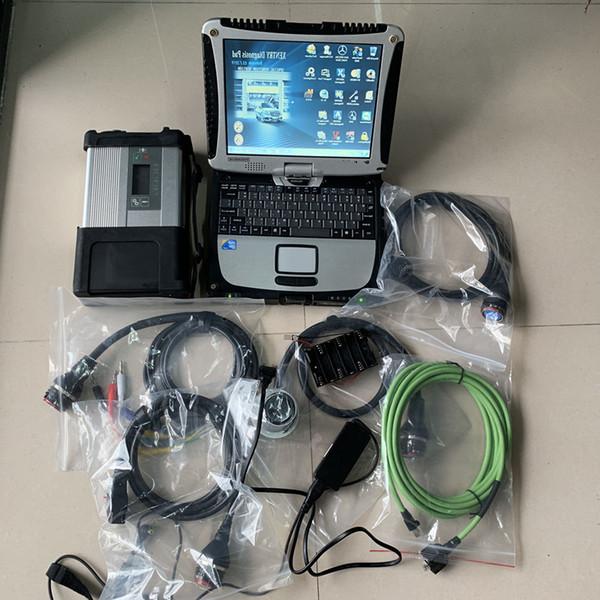 Escáner mb star c5 con cf19 laptop touch screen 2019 versión más reciente hdd 320 gb set completo herramienta de diagnóstico para mercedes benz