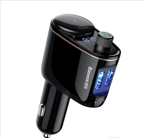Marke Baseus Autoladegerät MP3 Audio Player Bluetooth Car Kit FM Transmitter Freisprecheinrichtung 5V 3.4A Dual USB-Autoladegerät Handy Charg