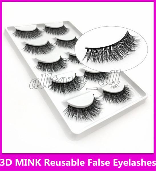 Hot 3D Mink Reusable False Eyelashes 100% Real Siberian 3D Mink Hair Strip False Eyelash Makeup Long Individual Eyelashes Mink Lashes