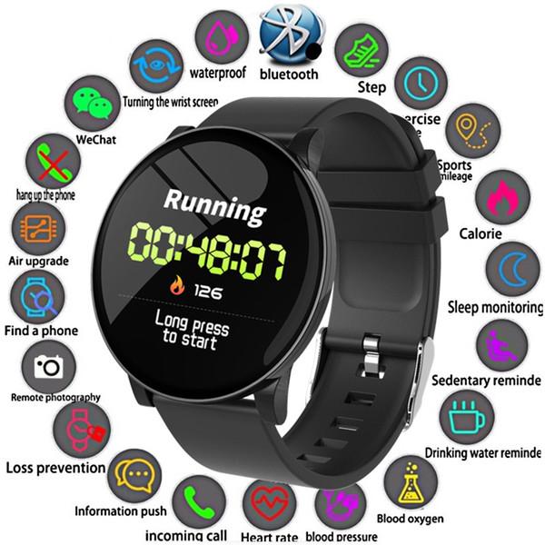 2019 novo esporte smart watch homens mulheres de oxigênio no sangue atividade à prova d 'água rastreador de fitness monitor de freqüência cardíaca smartwatch para android ios