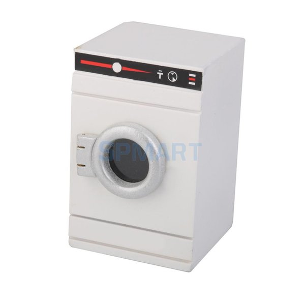retend Play Мебель Игрушки Масштаб 1/12 Кукольный домик Миниатюрный Стиральная машина для стиральной машины для кукольного домика Мебель для ванной ...