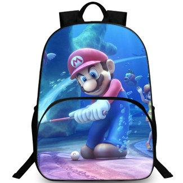 Golf backpack Super Mario player day pack Under water play school bag Leisure packsack Quality rucksack Sport schoolbag Outdoor daypack