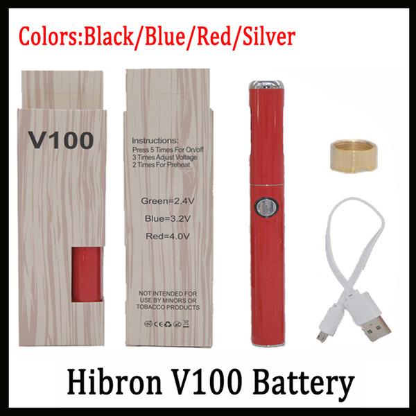 Autentica batteria VIBE Hibron V100 650mAh Preriscaldo Tensione discreta Vape discreta con caricatore USB Batteria più recente 100% originale-1