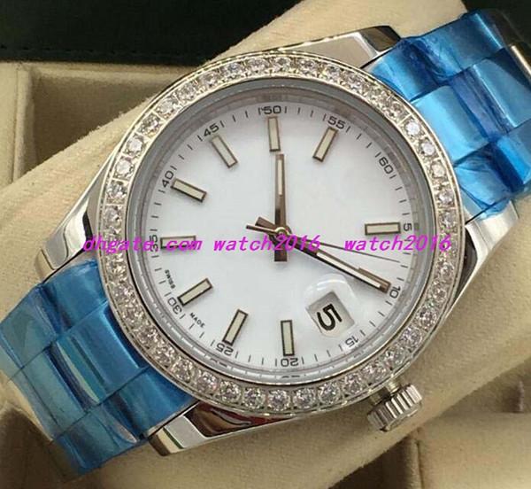 8 montres de luxe de style Mens Diamond Watch 41mm Silver Gold et Steel 116334 Montre automatique de mode pour hommes Montre-bracelet