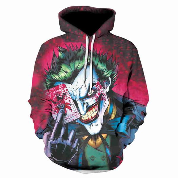 2018 trend designer hoodies unisex Graffiti Print Long Sleeve Hoodie Spring and autumn Casual hoodies for men fashion 3D printing hoodies