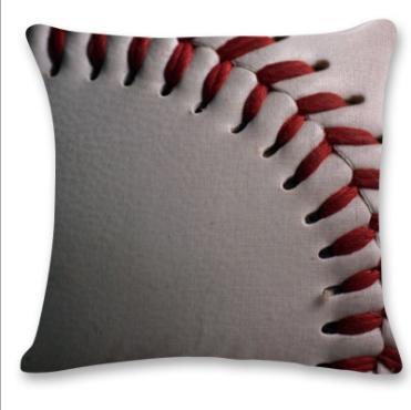 #5 Baseball Throw Pillow Case