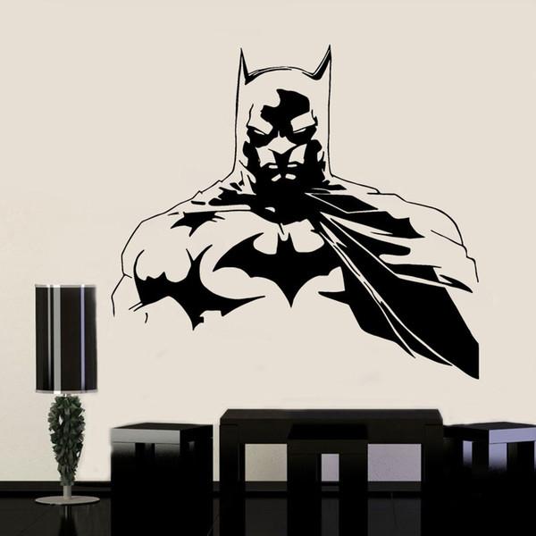 Justice League Batman Süper Kahraman Duvar Etiketler Vinil dekorasyon Ev Dekorasyonu İçin Çocuk Odası Duvar Çıkartmaları Çıkarılabilir Duvar