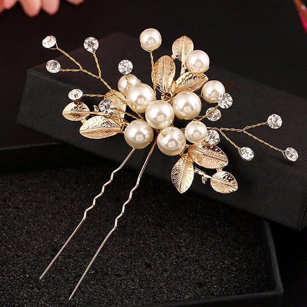 New Women Wedding Hair Accessories Pearl Headpiece Hair Pin Floral Bridal Bridesmaid Beautiful Headdress Vine Party Gift Jewelry