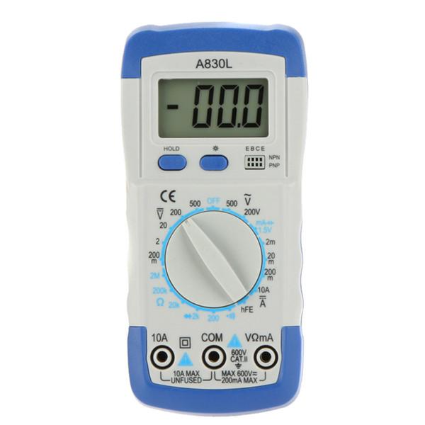 Digital Multimeter A830L Pocket-size DMM Ammeter Voltmeter Ohmmeter AC/DC Voltage Current Resistance hFE Tester LCD Backlight