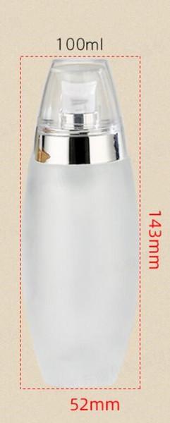 Botella de 100ml de plata bomba de la loción