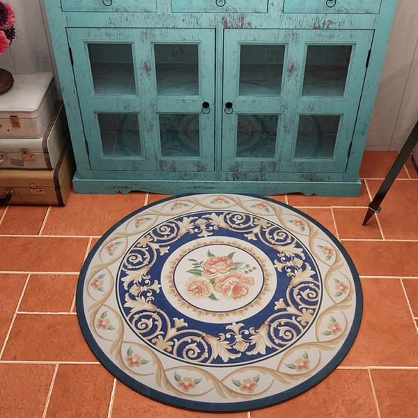Europa quanlity elevado rodada de poliéster veludo tapete decorado tapete anti-derrapante usado para Estudo quarto sala de estar