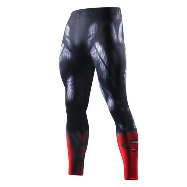 3 New High Quality Men Skinny Pants 3D PatternIron Man Flash Bodybuilding Jogger Fitness Skinny Leggings