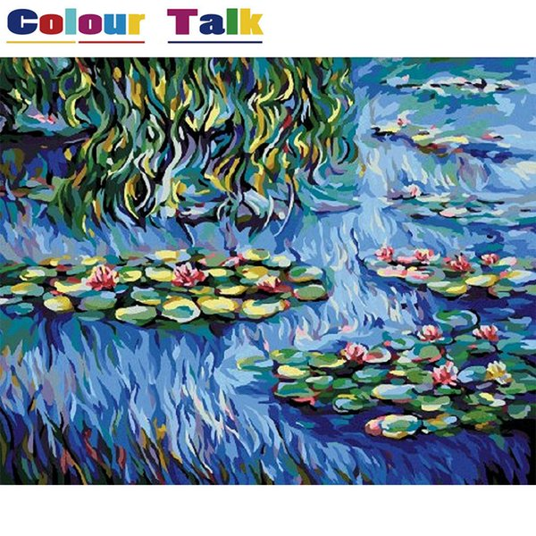 Coloring Calligraphy Pictures Wallpaper Oil Painting Numbers Diy On Canvas Drawing By Claude Monet P-0011 J190707