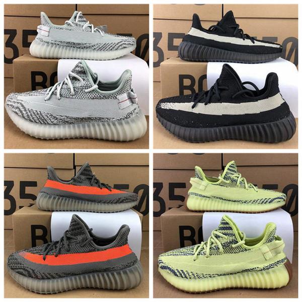 Top Qualité Kanye West V2 Beurre Statique Sésame Beluga 2.0 Teinte Zèbre Crème Vague Blanche Chaussures De Course Hommes Femmes Designer Sneakers 36-45