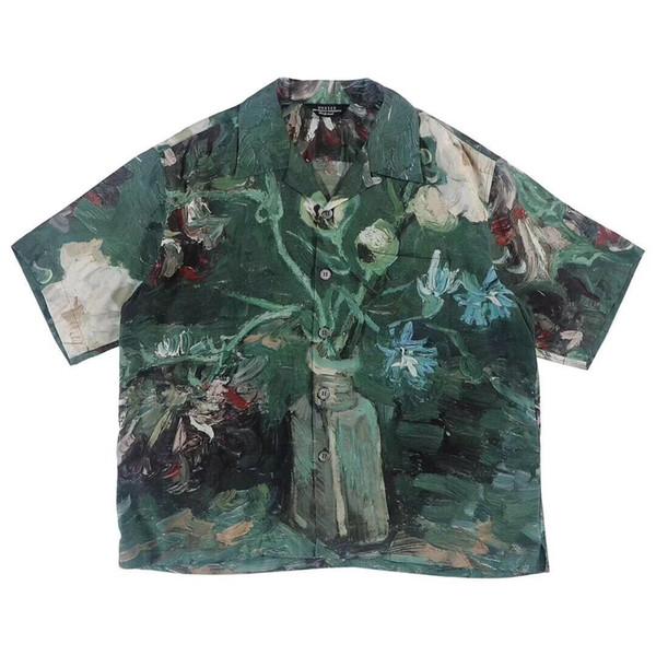 19SS UNUSED Van Gogh Müzesi Tee Moda Retro Sanat Stil Yüksek Kalite Kısa Kollu Çiftler Kadınlar Erkek Tasarımcı tişört HFKYTX016