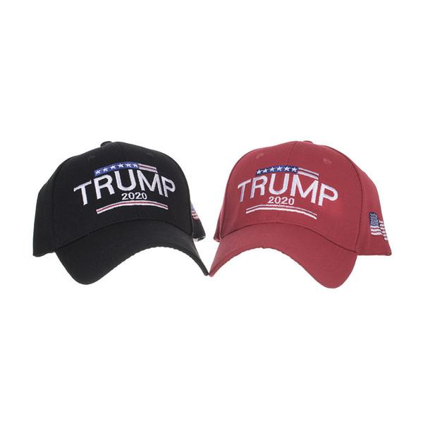 Sombrero de Trump 2020 EE. UU. Bandera Gorras de béisbol América Sombrero del Snapback bordado Sombrero de béisbol ajustable de Trump LJJK1698