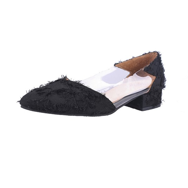 Dress Shoes 2019 New Autumn Korean Fashion Versatile With Casual Pointed Comfortable Shallow Mouth Roman Scoop Female