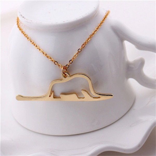30 hollow outline little prince necklace animal good fortune origami elephant in snake necklace for fairy tale women children gift jewels